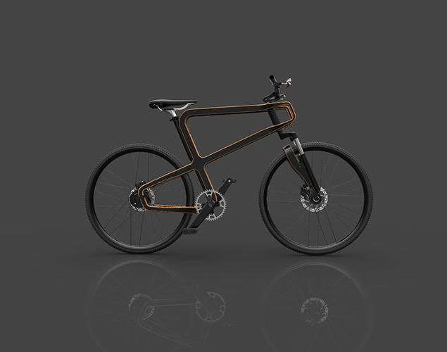 <p>Like Ikea furniture, the wooden bike is designed to fit in a small box, and a buyer can put the whole thing together using an Allen wrench.</p>