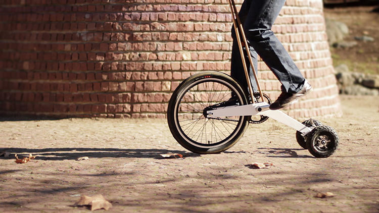 <p>The Halfbike: Pedal your way to work while standing up straight.</p>