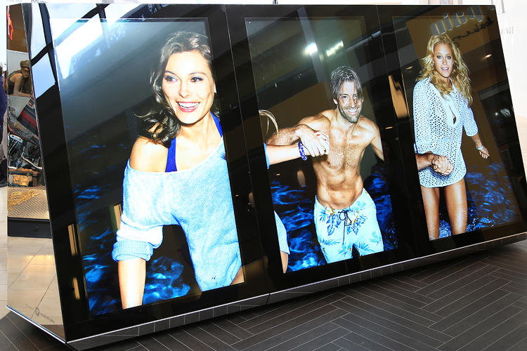 <p>Westfield's touch screens are over seven feet tall and can be configured in portrait or landscape mode.</p>