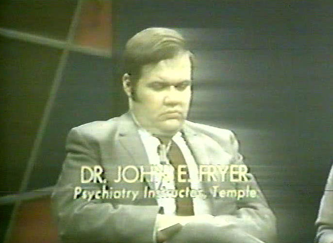 "<p>John E. Fryer, the first psychiatrist to confront the American Psychiatric Association about its classification of homosexuality as a mental illness, appears in the <em>Input</em> episode, ""Puppet or Person?""</p>"