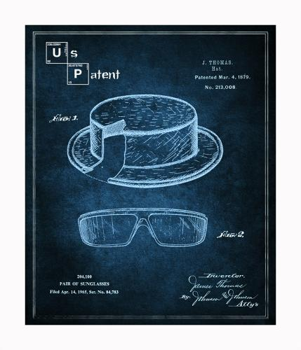 <p>The result is <em>The Breaking Bad</em> (*ahem* &quot;Inspired&quot;) Blueprint Series. A series of prints featuring line drawings of Heisenberg's glasses and hat, the meth-cooking RV, Walter White's tighty-whities, and other props.</p>
