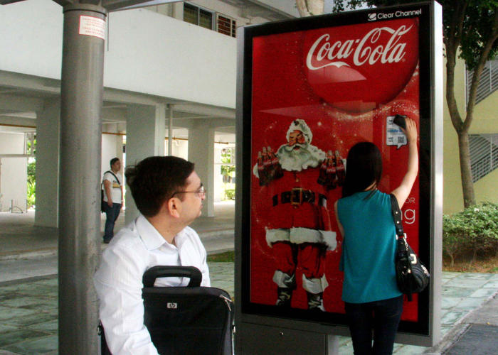 <p>Coca-Cola has been one of Clear Channel's NFC advertisers in international markets.</p>