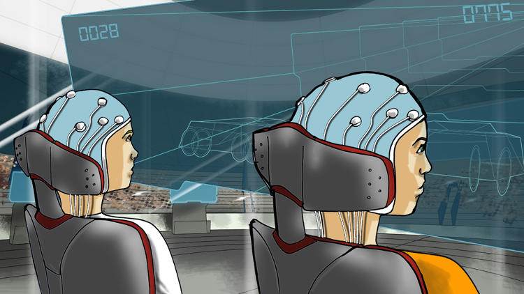 <p>In the brain-computer interface race, pilots will race an avatar, and the game will be projected on a screen for the audience.</p>