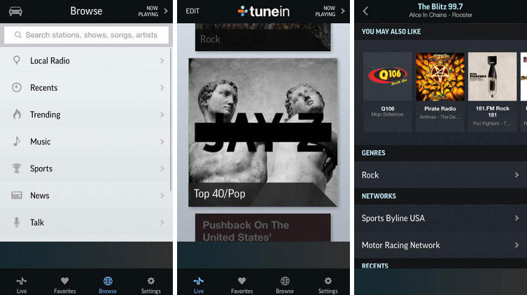 <p>Straightforward listening locally or globally, TuneIn features 100,000 live radio stations and 2 million podcasts, concerts, shows, and sports offerings. It won Google Play Editor's Choice, and it fully integrated with their website, so you can go from commute to desk without even taking your headphones off, pod junkies.</p>