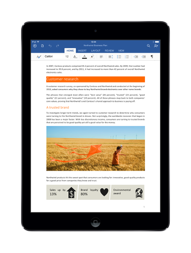 <p>The family of productivity apps will let users read and present documents, spreadsheets, and presentations, but editing capabilities will be available only for subscribers to its Office 365 suite.</p>