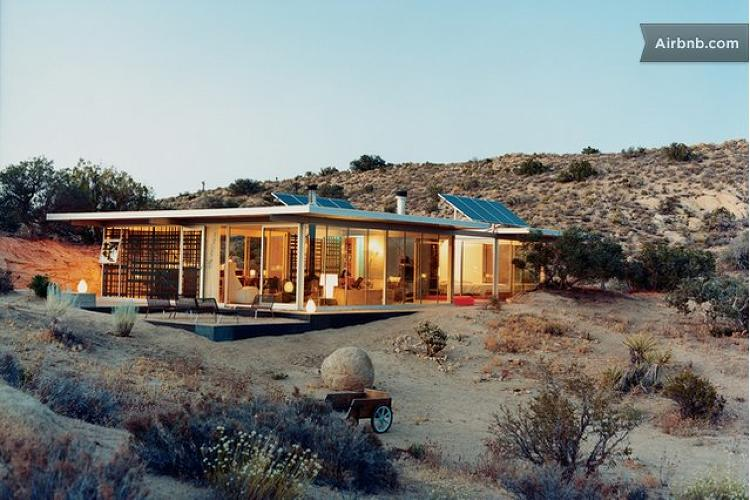 <p>Or maybe you'd rather stay off the grid in the appropriately named Pioneertown, California. Near Joshua Tree, this <a href=&quot;https://www.airbnb.com/rooms/19606&quot; target=&quot;_blank&quot;>house</a> has no Wi-Fi and no TV--but it is a totally green house surrounded by nature.</p>