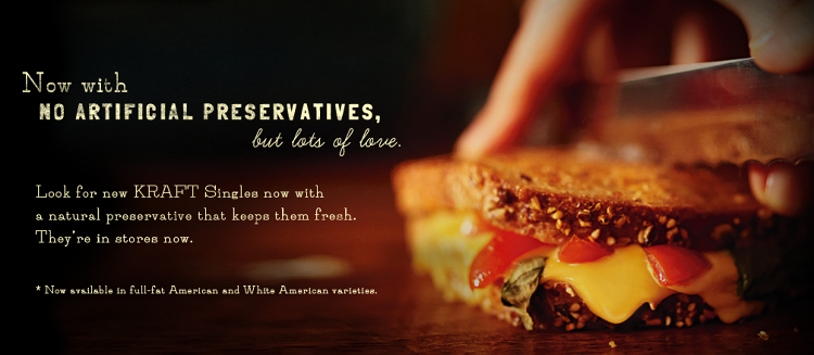 <p>In February, Kraft announced that it would be releasing a line of Kraft Singles with No Artificial Preservatives. It's marketing site wants you to think it comes from a farm.</p>