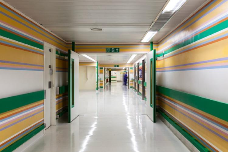 <p>&quot;The hospital corridor paintings embrace the whole space; they aim to lift the spirits and to remind one of the life outside the hospital, while in no way interfering with the essential activities which must go on,&quot; Riley said.</p>