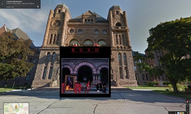 <p><em>Moving Pictures</em> by Canadian prog gods Rush, shot in front of the Ontario Legislature in Toronto in 1981.</p>