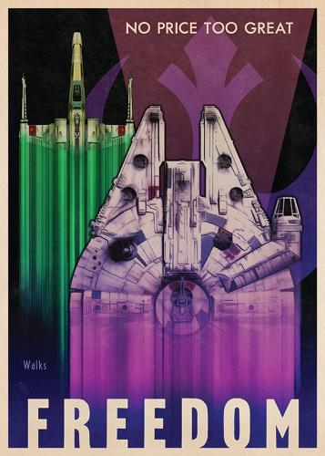 <p>Inspired by the likes of <em>Flash Gordon[i], [i]Star Wars</em>'s entire aesthetic — from swashbuckling with laser swords right down to the famous opening crawl — is deeply rooted in the 1940's.</p>