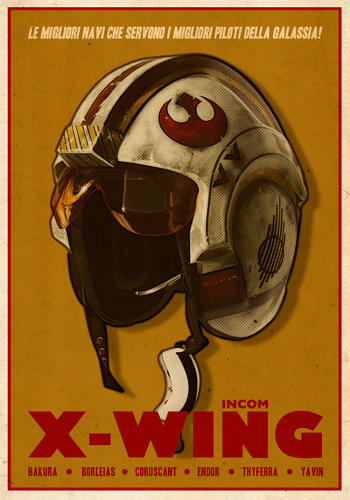 <p>These great images from illustrator Russell Walks take <em>Star Wars</em> submerged 1940's sensibilities and bring them to the surface as World War II style propaganda posters.</p>