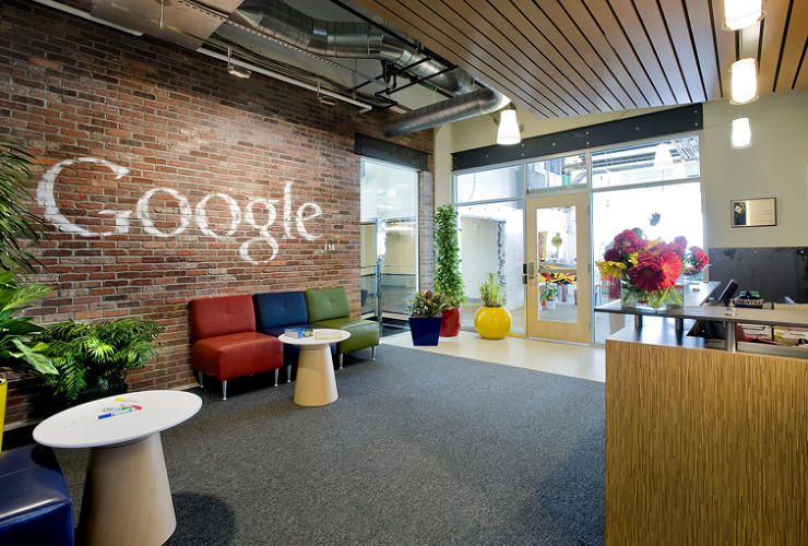 <p>For their <a href=&quot;http://www.fastcodesign.com/1663160/google-unveils-not-evil-office-in-pittsburgh&quot; target=&quot;_self&quot;>Pittsburgh headquarters</a>, Google opted for exposed brick and peeled paint to channel the Steel City's rough-and-tumble vibe.</p>