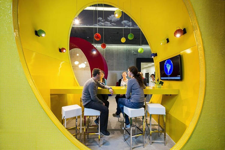 <p>Google's Dublin office is a spunky, brightly colored playground for nerds.</p>