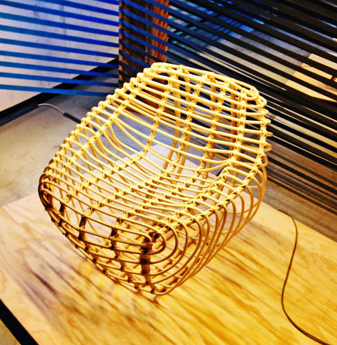 <p>On display at the Berlin Design Selection: Hettler Tullman's rattan chair, a modern take on the class wicker chair.</p>