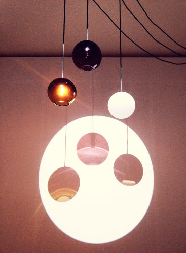 <p>At the <em>Delirious Home</em> exhibit, French design students made a lamp that's switched on and off when you wave at the shadows. It was inspired by Peter Pan's shadow.</p>