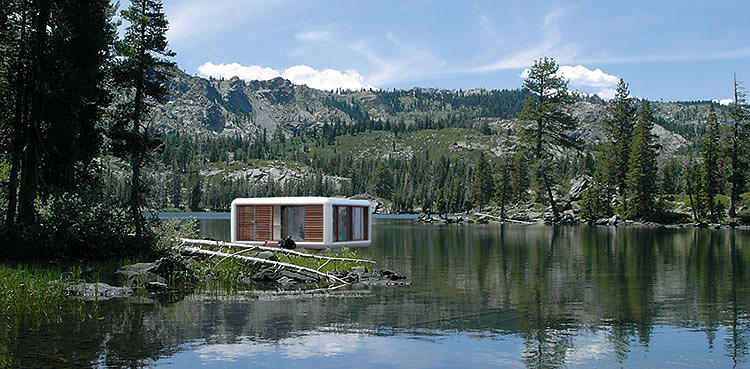 <p>Werner Aisslinger's Jetsons-esque LoftCube is shoebox-shaped and just 420 square feet, but floor-to-ceiling windows on all sides ward off claustrophobia. An optional patio makes it an excellent mini beach house. It takes a week to assemble.</p>