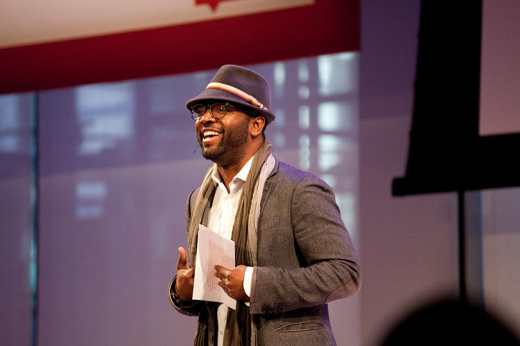 <p>Baratunde Thurston, one of <em>Fast Company</em>'s <a href=&quot;http://www.fastcompany.com/3018455/most-creative-people-2011/49-baratunde-thurston&quot; target=&quot;_self&quot;>Most Creative People in business</a> and the emcee for the day, kicked off Innovation Uncensored New York with his usual wit and wisdom.</p>