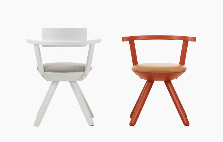<p>This year Konstantin Grcic (whose exhibit at the Vitra Design Museum is covered here) had designs on display for Vitra, Mattiazi, and Magis, to name a few. Here, however, is his first creation for <a href=&quot;http://www.artek.fi/&quot; target=&quot;_blank&quot;>Artek</a>: the Rival multifunctional task chair. The legs are designed to be milled from a single piece of birch.</p>
