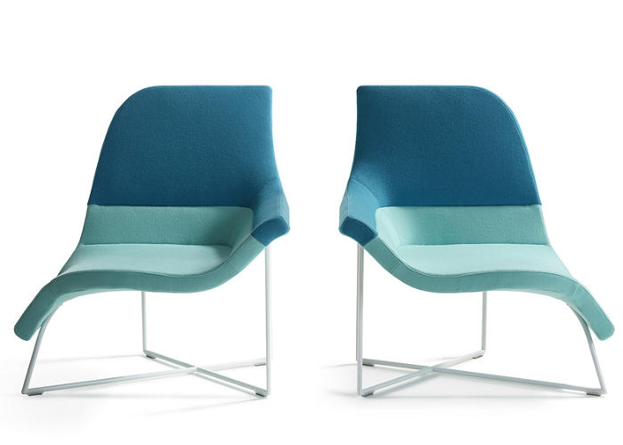 <p>Dutch architecture firm <a href=&quot;http://www.unstudio.com/en&quot; target=&quot;_blank&quot;>UNstudio</a>'s curvy Gemini chair for Artifort is designed to accommodate several postures: sit up, or relax by draping a leg over the side.</p>