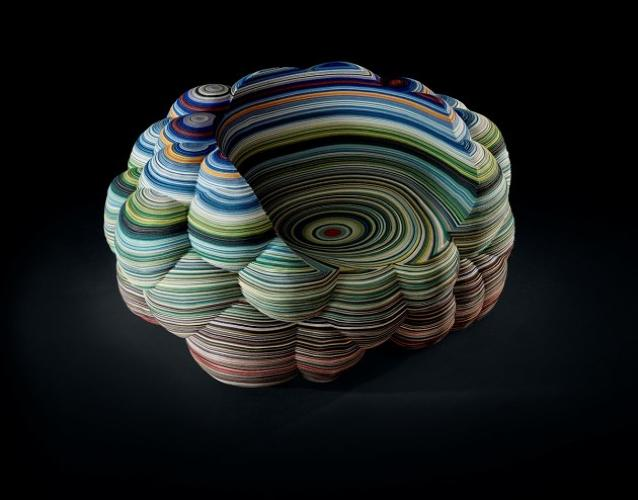 <p>Dutch designer Richard Hutton's Layers Cloud Chair.</p>
