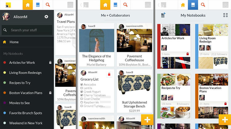 <p>Who doesn't love giving recommendations? This note-taking app is social--allowing you to jot ideas, send photos and get suggestions on your musings. Clip articles for later and access over several devices.</p>