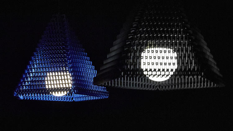 <p>ZooM is a 3-D printed, pop-up lampshade.</p>