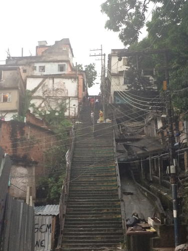 <p>The steps leading up to Providencia, first settled in 1897, were built by slaves. Today, Providencia is an important center of Afro-Brazilian tradition.</p>