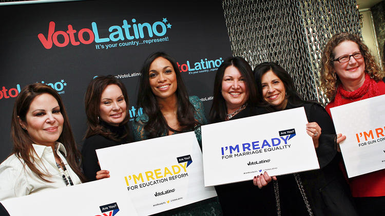 <p>Half of eligible Latino voters are under the age of 40, and while the Average American is 42 years old, the average Latino is 26.</p>