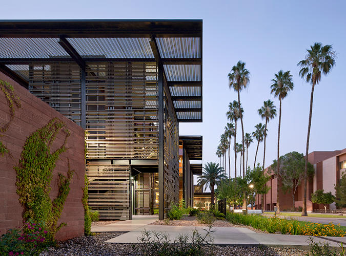 <p>At Arizona State University, a sterile and unwelcoming health clinic was transformed into a light-filled LEED-Platinum building. <a href=&quot;http://www.lakeflato.com/&quot; target=&quot;_blank&quot;>Lake Flato Architects</a> and <a href=&quot;http://www.owp.com/&quot; target=&quot;_blank&quot;>Orcutt Winslow Architects</a></p>