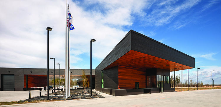 <p>A new U.S. Port of Entry in Minnesota is LEED-Gold certified, with reconstructed wetlands on site, recycled and FSC-certified materials, and rainwater collection. <a href=&quot;http://snowkreilich.com/&quot; target=&quot;_blank&quot;>Snow Kreilich Architects</a></p>