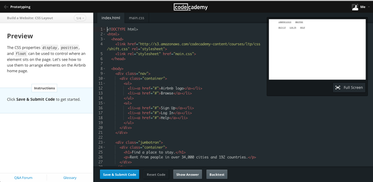 <p>The new learning environment, which will debut on Codecademy's website Monday.</p>