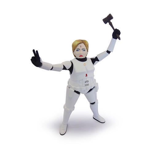 <p>Hillary Clinton as a Storm Trooper.</p>