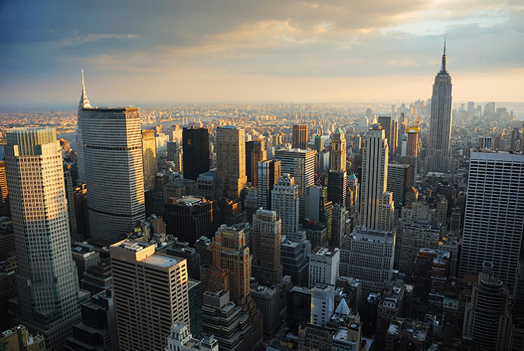 <p>4: New York, with 303 buildings.</p>