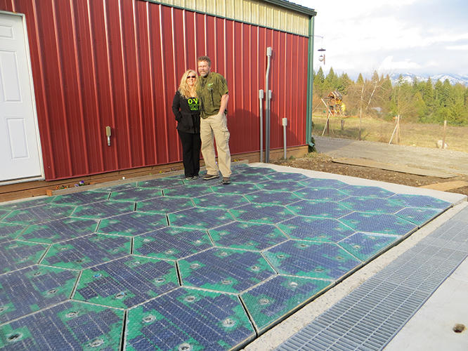 <p>The Solar Roadways project, now crowdfunding on Indiegogo, hopes to re-pave the country in custom, glass-covered solar panels that are strong enough to drive on while generating enough power to light the road, melt ice and snow, and send extra energy to cities.</p>