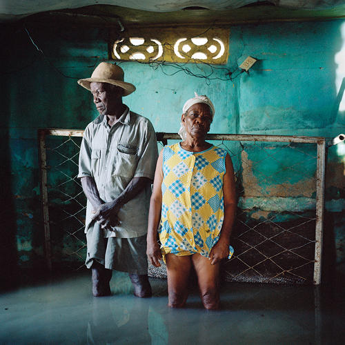 <p>Christa and Salomon Raymond Fils, Haiti, September 2008</p>