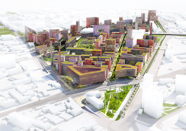 <p>Since the Hammer &amp; Steel Factory is so huge--not just a single building, but a complex on land about three times the size of the SoHo district in New York City--it has room to eventually include apartments for 19,000 people and offices for 16,000 more.</p>
