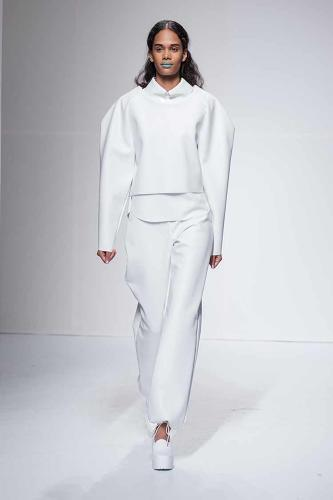 <p>This year, Wollner used her experience with the disorder as design inspiration for her senior thesis collection.</p>