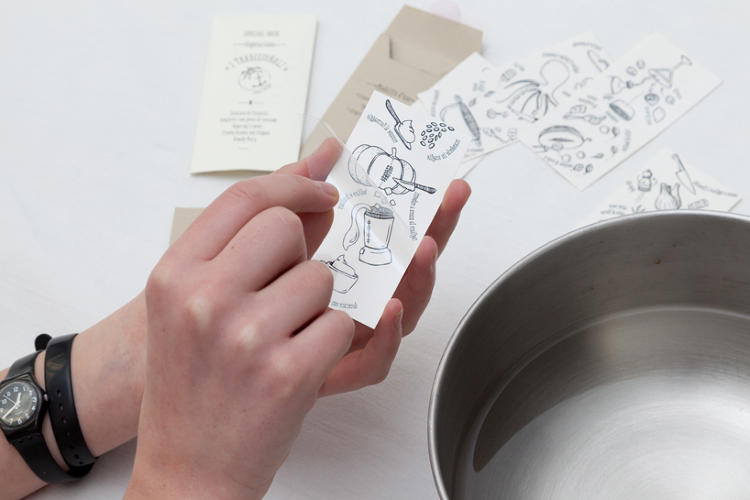 <p>The packaging is made up of crushed, eco-friendly paper. Cincirpini and Richiusu are taking pre-orders for the recipe tattoos, available in Italian and English, on <a href=&quot;http://eppela.com/ita/projects/770/i-tradizionali-tattoo-recipes&quot; target=&quot;_blank&quot;>Eppela.com</a>.</p>