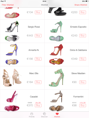 <p>The app's recommendation abilities are based on a complex algorithm called social clustering. To put it simply, if you like shoes A, B, and C, and someone else on Stylect also liked shoes A, B, and C plus shoe D, Stylect can recommend you shoe D.</p>