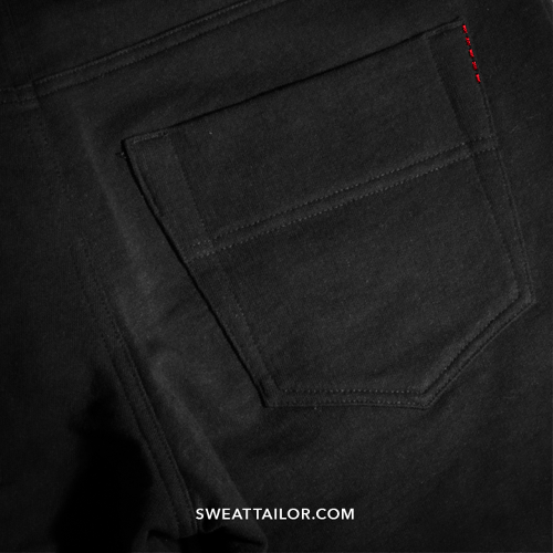 <p>But instead of denim, they're made from a custom cotton blend with a small amount of Spandex.</p>