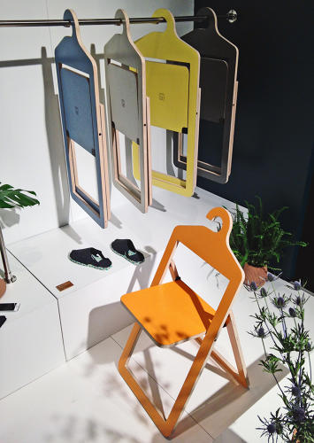 <p><a href=&quot;http://www.umbra.com/emailblasts/140424-UmbraShift/&quot; target=&quot;_blank&quot;>Umbra Shift</a>--a younger, more experimental offshot of Umbra's main brand--debuted some chairs fold-up designed to be stashed away in a closet.</p>