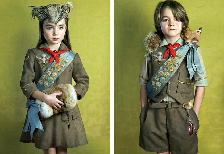 <p>This series, entitled &quot;Owl Scouts,&quot; depicts two young scouts on an expedition through the woods.</p>