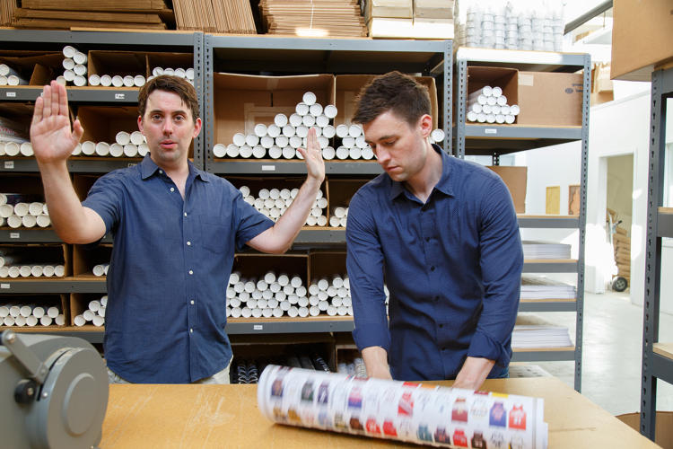 <p>Since launching four years ago, the company's founders Ben Gibson (left) and Patrick Mulligan (right) parlayed their knack for fun, punchy, eminently shareable graphics into a full-fledged store that has increased revenue 50% year over year.</p>