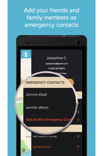 <p>If they don't respond, it sends an SMS or email with the user's location to their designated emergency contacts, who can choose to notify the police (the SMS feature requires a monthly fee).</p>