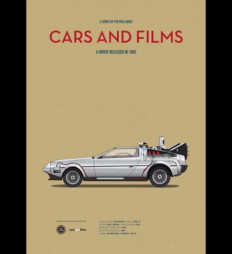 <p>Perhaps the most iconic movie-car of all, the DeLorean from <em>Back to the Future</em>.</p>