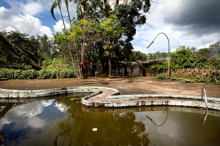 <p>&quot;I was in Liberia making a series about agriculture in the city, and I found this pool by accident. You can see that this was a luxury place in the past, but now the luxury is completely gone. The water was so dirty that it moved and bubbled a bit.&quot;</p>
