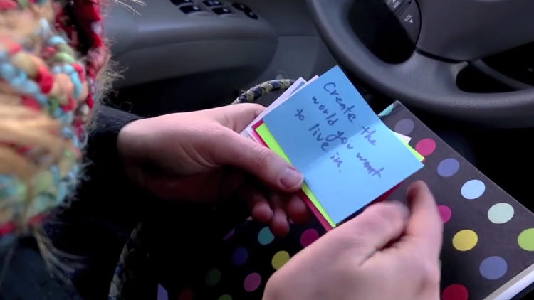 <p>Chicago's Christina Hardman gives her passengers daily words of wisdom and affirmation on their commute.</p>