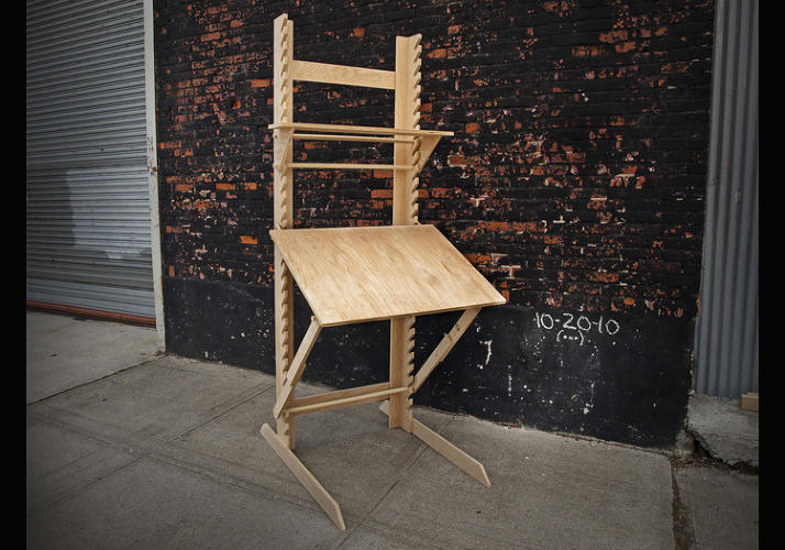 A 4 In 1 Sitting Standing And Draft Desk Plus Easel