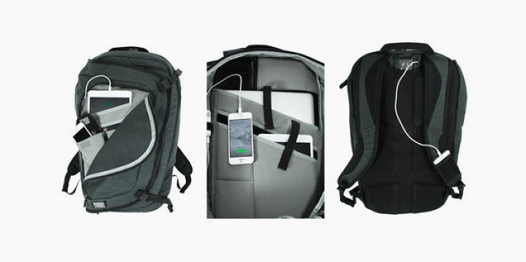 <p><strong>Traveling dad</strong></p>  <p>Does your dad always get stuck with cancelled flights and inconvenient transfers when he's on the road? This Colfax's smart <a href=&quot;http://www.fastcolabs.com/3031444/this-smart-backpack-has-its-own-wi-fi-network-and-storage&quot; target=&quot;_self&quot;>backpack</a> will alleviate the pain of weak Wi-Fi and drained batteries. A power source within the sleekly designed backpack routes energy to the devices that need it most.</p>