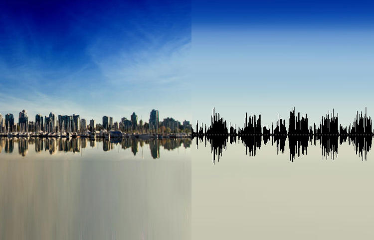 <p>A cityscape translated into sound waves.</p>